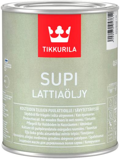 Тиккурила Супи защитное масло для деревянных полов сауны и бань