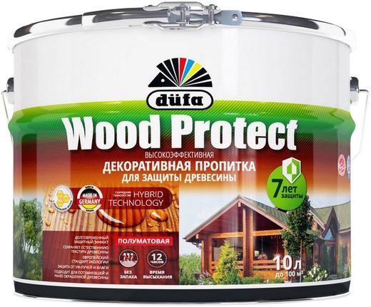 Dufa Wood Protect высокоэффективная декоративная пропитка (2.5 л) бесцветная