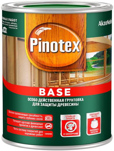 Грунтовка Пинотекс Base особо действенная деревозащитная 1 л