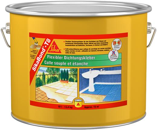 Sika Sikabond-T8 эластичный водонепроницаемый клей (10 л)