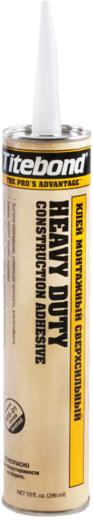 Titebond Heavy Duty Constraction Adhesive клей монтажный сверхсильный высокопрочные водостойкие жидкие гвозди