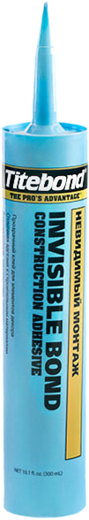 Titebond Invisible Bond Construction Adhesive клей невидимый монтаж прозрачный (296 мл)