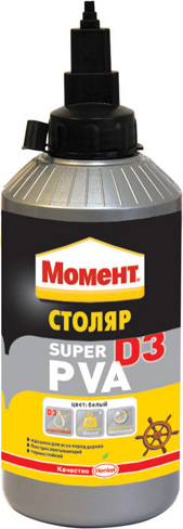 Момент Столяр ПВА Super PVA D3 клей водостойкий