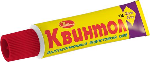 Новбытхим Квинтол высокопрочный водостойкий клей (45 мл шоу-бокс)