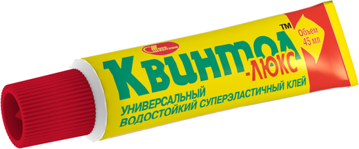 Новбытхим Квинтол-Люкс универсальный водостойкий суперэластичный клей (45 мл шоу-бокс)