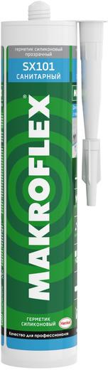 Герметик Макрофлекс Sx101 силиконовый санитарный высокоэффективный сантехнический 290 мл бесцветный