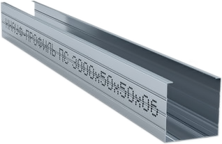 Металлический профиль стоечный (ПС) Кнауф (100 мм*50 мм*3 м) (0.6 мм)
