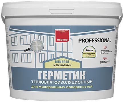 Неомид Теплый Дом Mineral Professional герметик тепловлагоизоляционный строительный (15 кг) белый