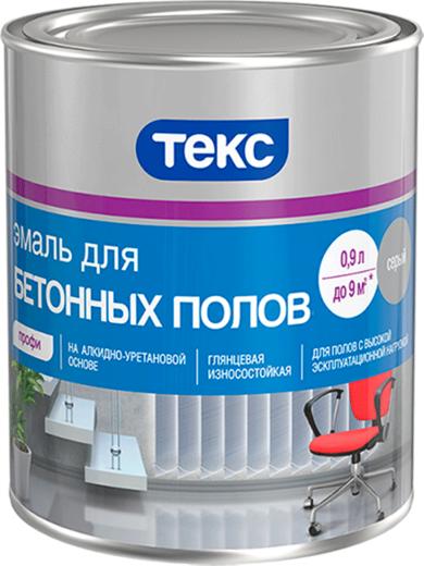 Текс Профи эмаль для бетонных полов (900 мл) красно-коричневая