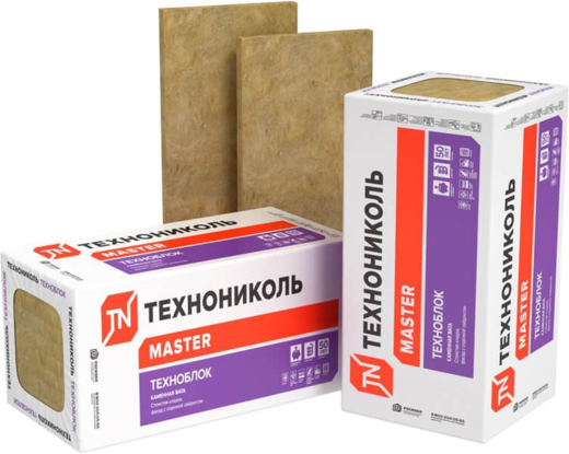 Каменная вата Технониколь Master Техноблок стандарт 0.6*1.2 м/100 мм