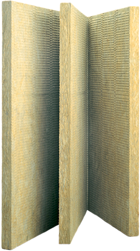 Rockwool Венти Баттс Оптима жесткая гидрофобизированная теплоизоляционная плита из каменной ваты