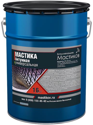 Мастиков МБУ мастика битумная универсальная (16 кг) черная