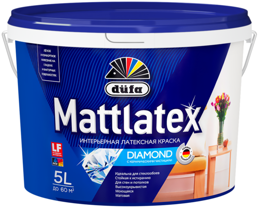 Dufa Mattlatex Diamond интерьерная латексная краска с керамическими частицами (10 л) белая