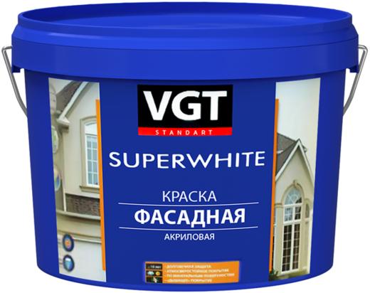 ВГТ ВД-АК-1180 Superwhite краска фасадная акриловая под колеровку (13 кг) белая