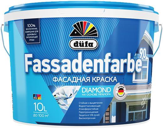 Dufa Fassadenfarbe 90 краска фасадная водно-дисперсионная (10 л) белая