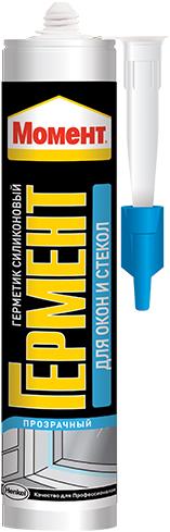 Герметик силиконовый для окон и стекол Момент Гермент (85 мл) белый