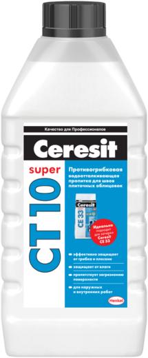 Ceresit CT 10 Super пропитка противогрибковая водоотталкивающая для швов (1 л) бесцветная