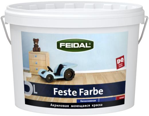 Feidal Novatic Feste Farbe акриловая моющаяся антивандальная краска (10 л) белая