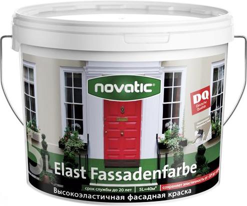 Feidal Novatic Elast Fassadenfarbe высокоэластичная фасадная краска (2.5 л) белая