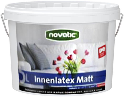 Feidal Novatic Innenlatex Matt акриловая латексная краска для стен (4.65 л) бесцветная (база 3)