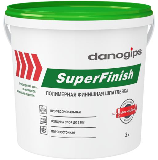 Danogips Superfinish полимерная финишная шпатлевка (3 л)