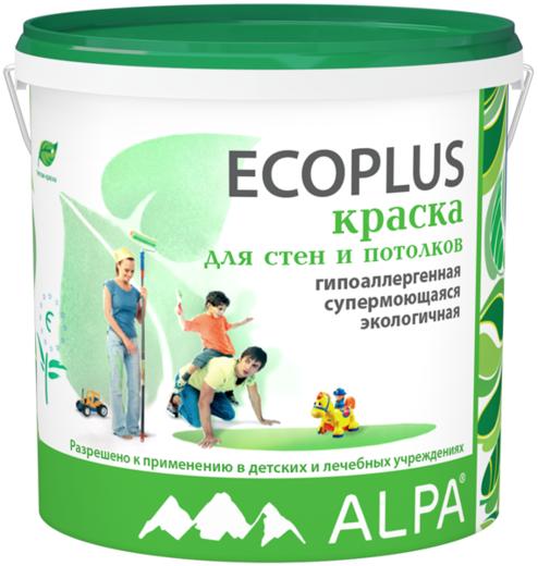 Alpa Ecoplus краска для стен и потолков гипоаллергенная экологичная (900 мл) белая