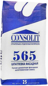 Консолит 565 шпатлевка фасадная (25 кг)