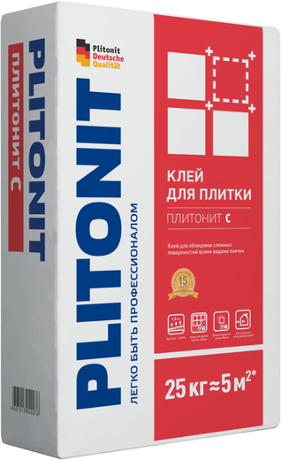Плитонит С клей для облицовки сложных поверхностей всеми видами плитки (25 кг)