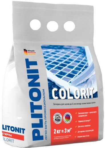 Плитонит Colorit затирка для швов до 6 мм (2 кг) белая