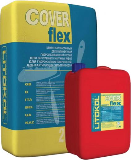 Литокол Coverflex цементный эластичный двухкомпонентный гидроизоляционный состав