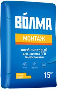 Волма Монтаж клей гипсовый для монтажа ПГП, ГКЛ тонкослойный (30 кг)