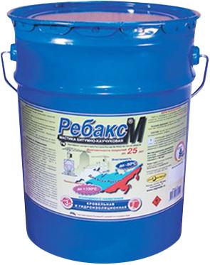 Рогнеда Ребакс М мастика битумно-каучуковая кровельная и гидроизоляционная (20 л)