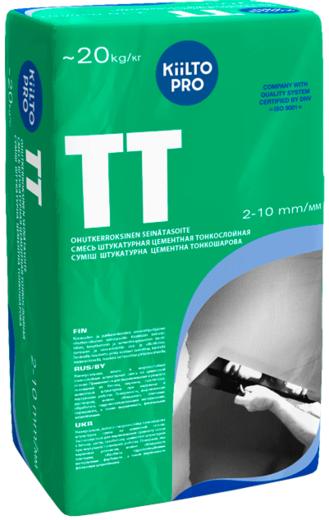 Kiilto Pro TT смесь штукатурная цементная тонкослойная (20 кг)
