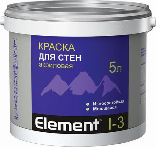 Краска Alpa Element i-3 для стен акриловая 2 л белая