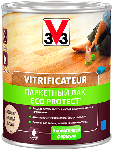 V33 Vitrificateur Eco Protect паркетный лак