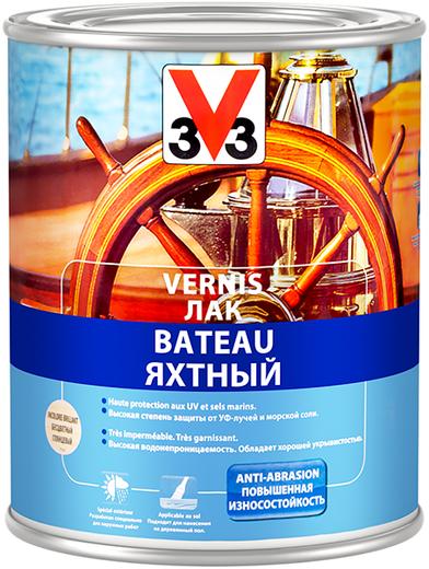 Лак яхтный V33 Vernis Bateau (750 мл) полуглянцевый