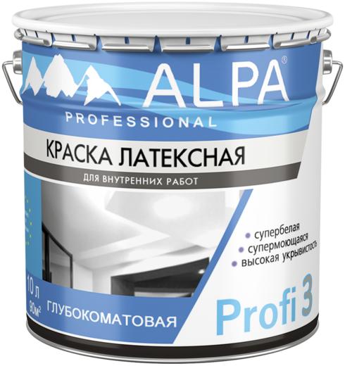 Краска Alpa Profi 3 латексная 9.06 л бесцветная