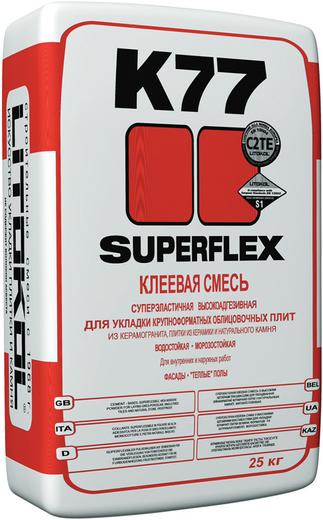 Superflex k77 клеевая для укладки крупноформатных облицовочных плит 5 кг