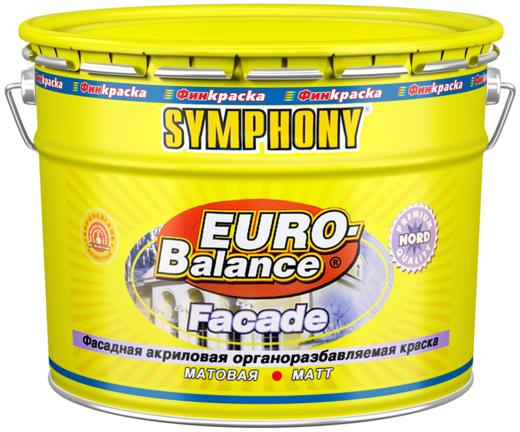 Финкраска Симфония Euro-Balance Facade Nord фасадная акриловая органоразбавляемая краска щелочестойкая на растворителях