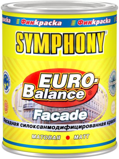 Финкраска Симфония Euro-Balance Facade Siloxan фасадная силокcанмодифицированная краска водоразбавляемая (10 л) бесцветная
