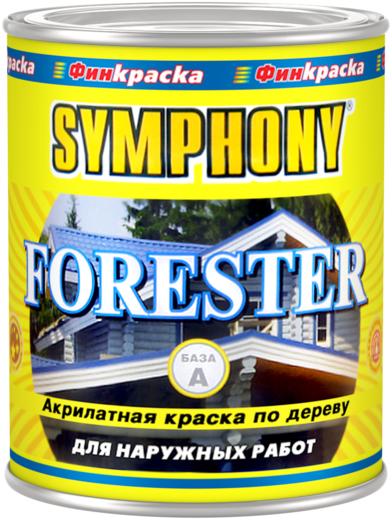 Финкраска Симфония Forester акрилатная краска по дереву (1 л) бесцветная