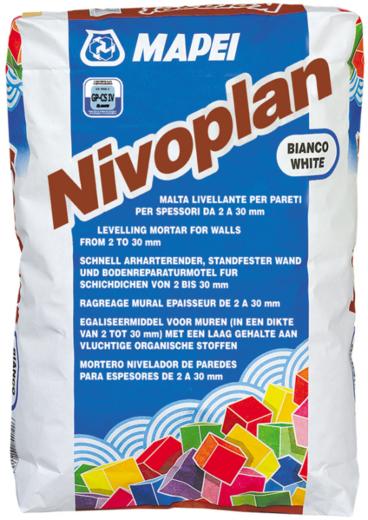 Штукатурка Mapei Nivoplan plus цементная 25 кг