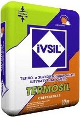 Ивсил Termosil тепло- и звукоизоляционная штукатурка сверхлегкая (12 кг)