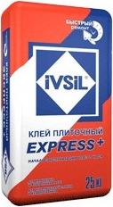 Ивсил Express+ плиточный клей для срочного ремонта быстротвердеющий для плитки