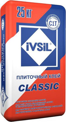 Ивсил Classic плиточный клей профессиональный усиленный (25 кг) зимний