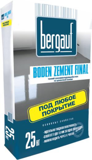 Bergauf Boden Zement Final тонкий самонивелирующийся пол на цементной основе