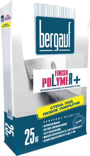 Шпаклевка Bergauf Finish polymer+ финишная на полимерной основе 25 кг