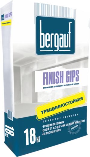 Шпаклевка Bergauf Finish gips финишная на гипсовой основе трещиностойкая 18 кг