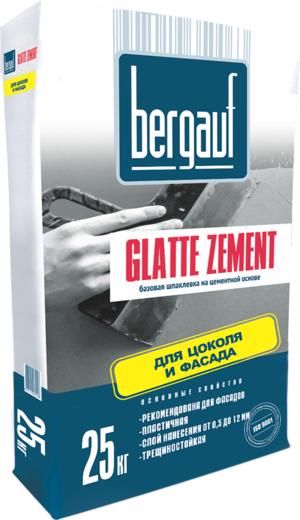 Bergauf Glatte Zement базовая шпаклевка на цементной основе для цоколя и фасада (25 кг)