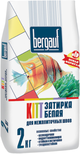 Bergauf Kitt затирка белая для межплиточных швов